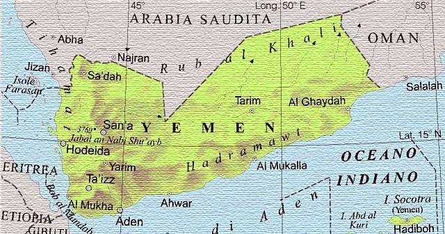 Cartina Yemen.Cartina Yemen